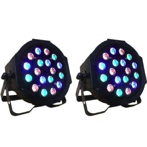 I3C One Pair 18 x 3W RGB PAR64 DMX LED Party Stage Effect Light
