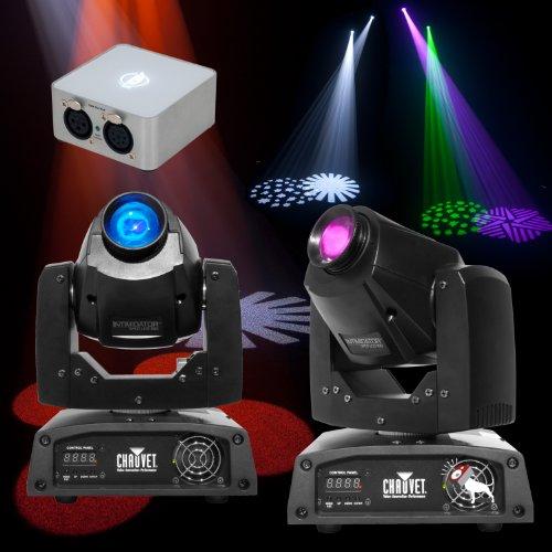 Chauvet Intimidator 150 LED Moving Head Twin Pack & ADJ My DMX 2.0 Software