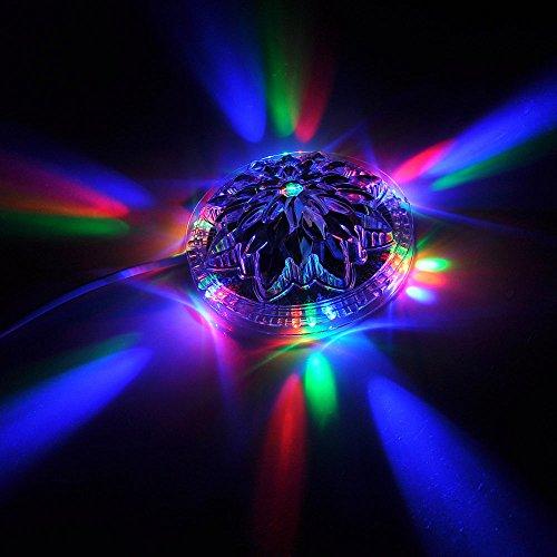 Superstar™ Voice Activated/Auto Sound Control 48 LEDs Sunflower Stgae Lighting 8 Models Effects RGB Magic Disco DJ Stage Lighting For KTV Xmas Party Wedding Show Club Pub Disco DJ