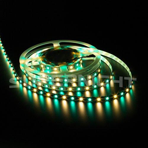 SUPERNIGHT RGBWW LED Strip Lighting Ribbon Kit 16.4ft 5M 5050 300leds Non-waterproof Color Changing RGBWW LED Flexible Lights + 40Key RGBWW Remote Controller + 12V 5A Power Supply