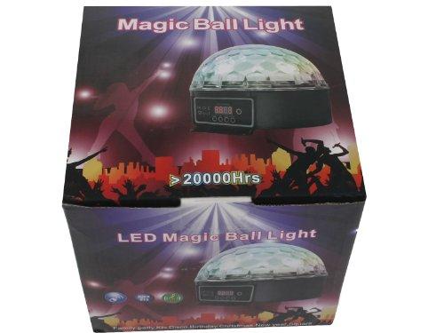 DMX512 Stage Lighting Digital LED RGB Crystal Magic Ball Disco DJ Effect Light
