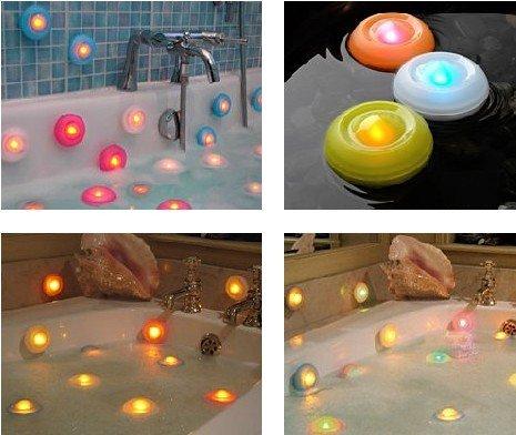 2Pcs The colorful floating bathtub lamp /LED waterproof
