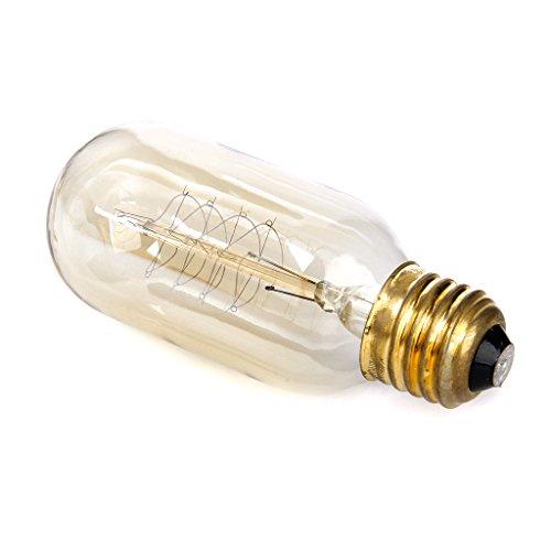 Ac 110-120V Vintage Tungsten Filament Antique Light Bulb E27 T45