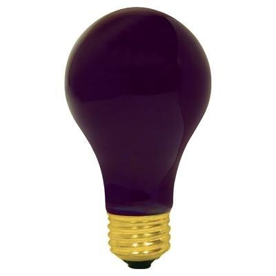 60 WATT A19 BLACK LIGHT INDUSTRIAL GRADE UV LIGHT BULB LONG LIFE BLACKLIGHT UV BULB