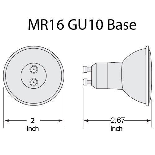ECO-Lite Dimmable 9W LED MR16 GU10 base Flood 45 Soft White bulb ~ 50w equiv