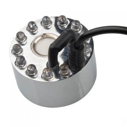 EUBUY 12 LED Light Ultrasonic Mist Maker Fogger Water Fountain Pond With Power Adapter