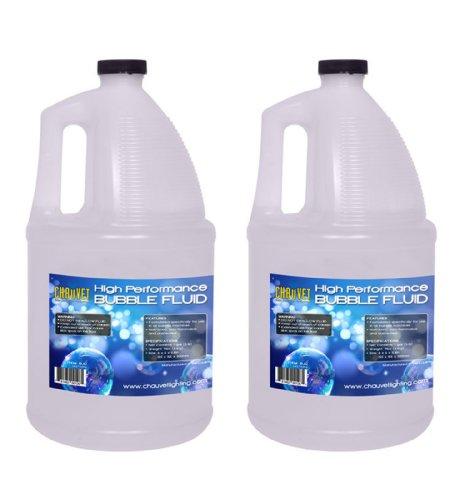 NEW! (2) Gallon Bottles of CHAUVET BJU Non-Staining Bubble Juice Fluid - BJ-U