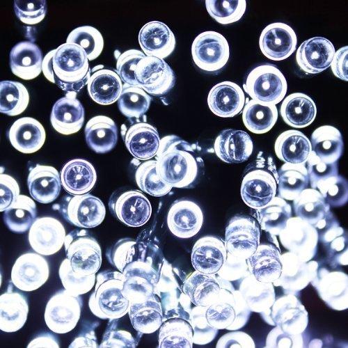 Kowellshine KL-200 Solar Fairy String Lights 57FT 200 LED 7 Modes Waterproof Light-White Solar String Powered String Light With Waterproof Switch for Outdoor Garden Christmas Wedding Party--White
