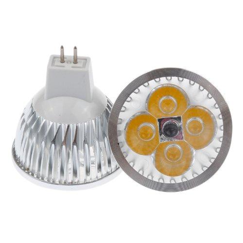 Lemonbest® 12V 4W MR16 Gu5.3 LED Spotlight Bulb, 35 Watt Incandescent Equivalent, Warm White