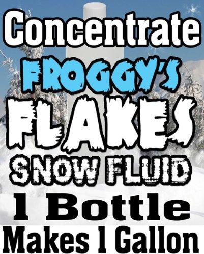 Concentrate Froggys Flakes Snow Juice Machine Fluid - Makes 1 Gallon Snow Formula: LONG LASTING (75+ Feet Float / Drop)