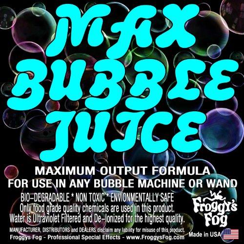 1 Gallon - MAX Bubble Juice Fluid - 10x the Bubbles from Standard Machines