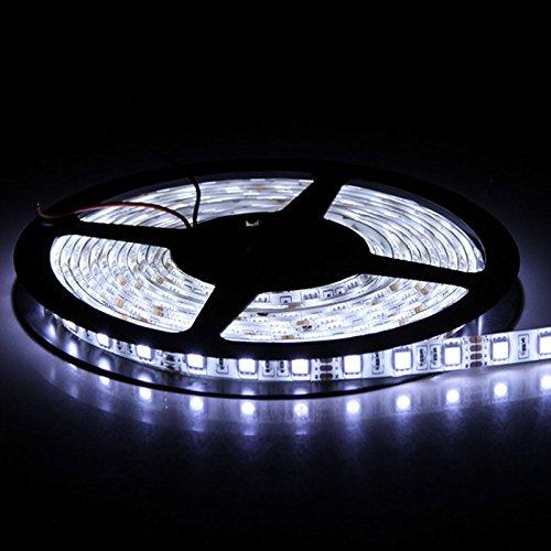 SUPERNIGHT (TM) Cool White 5M / 16.4FT 5050 SMD Flexible LED Strip Lights 300 leds or 60led/m LED Light
