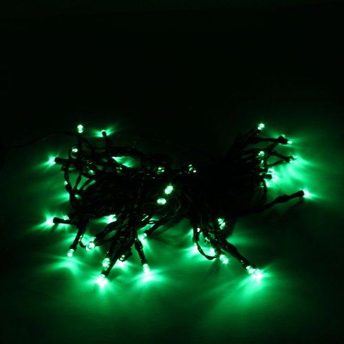 Marswell 50LED Solar Powered String Light Xmas Garden Decorative,Green