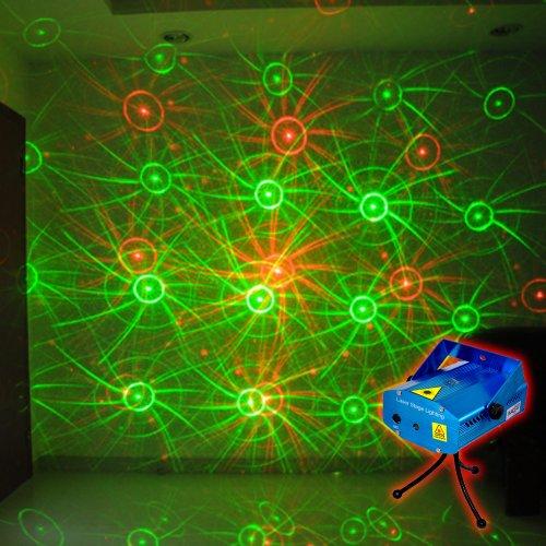 Protable Mini Stage Lighting Projector LED Strobe Flash Light DJ Party Christmas Effect Light