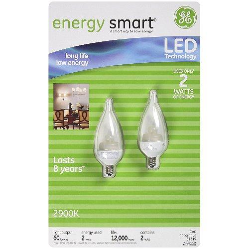 GE energy smart LED 2 Watt Decorative Bulbs - 2 pk.