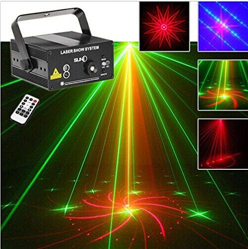 Generic 3 Lens 40 Patterns RG Laser BLUE LED Stage Lighting DJ Show Light Green Red