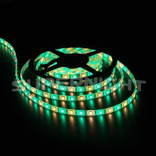 SUPERNIGHT 16.4ft (5m) 5050 300Leds RGB+Warm White LED Flexible RGBWW Waterproof LED Strip Lighting Kit ,5M RGBWW LED Strip + 40Key RGBWW Remote Controller + 12V 5A Power Supply