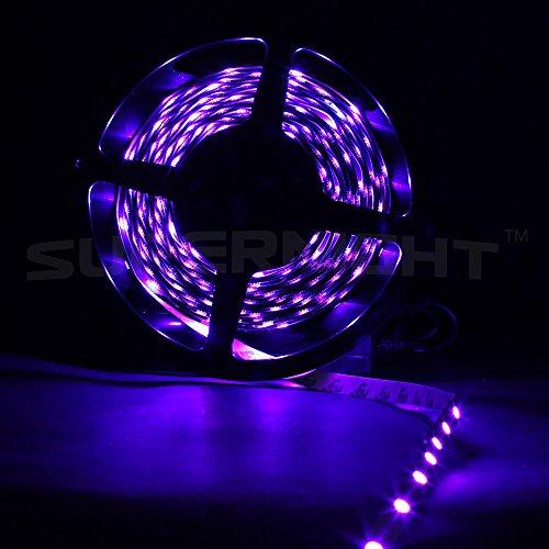 SUPERNIGHT 32.8ft 10M Non-waterproof Flexible Strip 600leds Color Changing RGB SMD5050 LED Light Strip Kit RGB 5M +24Key Remote+24V 5A Power Supply