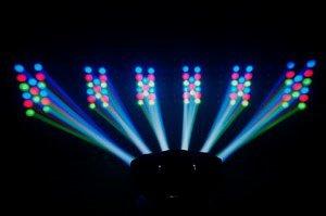 (2) CHAUVET DERBY X RGB DMX Pro DJ Club Strobe Lights + Fog Machine + Blacklight