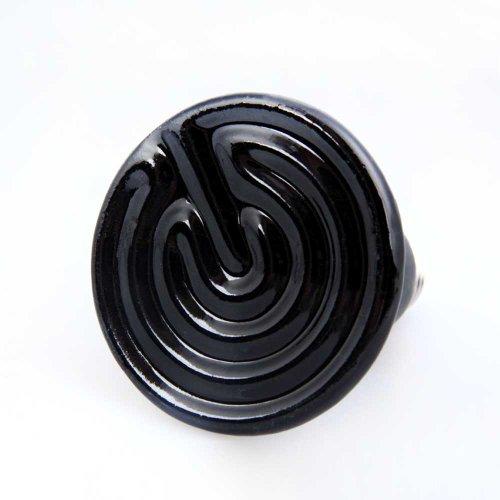 Vktech Black Ceramic Flat Bottom Heat Lamp Bulb (50W)