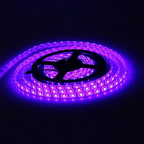 XKTTSUEERCRR Water Resistant 16.4FT 5050 RGB LED Light Changing Flexible Light Strip 12V LED Strip Light 300 SMD