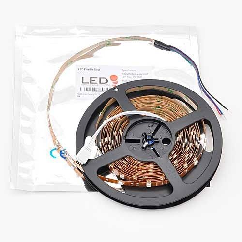 Flexible Color Changing RGB Ribbon Flexible LED Light Strip 12v (5m 16.4ft/reel) By Ledwholesalers, 2034rgb