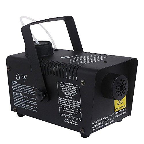 1byone Fog Machines Mini 400 Watt 2000CFM 2 Meters Output Distance 500ml Tank Capacity with Wired Control Fog Machine