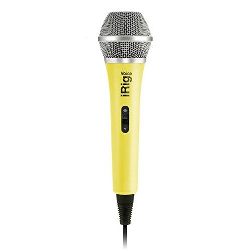 IK Multimedia iRig Voice (yellow) karaoke microphone for smartphones and tablets
