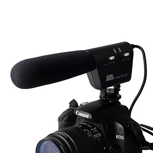 BW® MC-50 DSLR Camera Photography Interview Mounted Shotgun MIC Microphone for Canon Nikon Sony Blackmagic Camera DV Camcorder