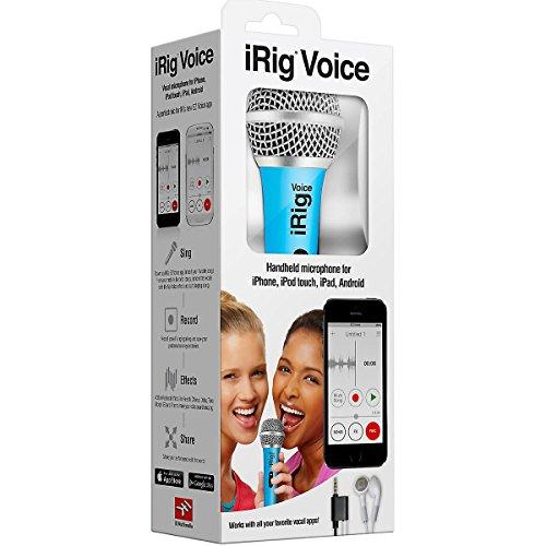 IK Multimedia iRig Voice (blue) karaoke microphone for smartphones and tablets