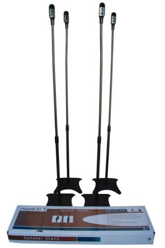 Lumi Universal Satellite Surround Sound Home Theater Theatre Speaker Stands - Black (Set of 4)
