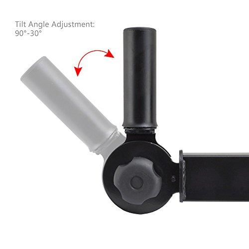 Pyle PSTNDW15 Dual Universal Adjustable Wall Mount Speaker Bracket Stands with Angle, Tilt, Rotation Adjustment (Pair)
