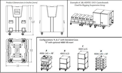 JBL Transport Case for Vertec Subcompact 4886/4883 Speaker - Black (JBL-VERTEC-SYS1)