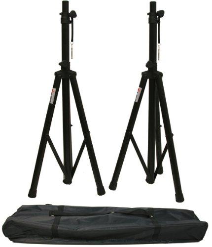 ASC (2) Pro Audio Mobile DJ PA Speaker Stands or Lighting 6 Foot Adjustable Height Tripod & Nylon Travel Bag