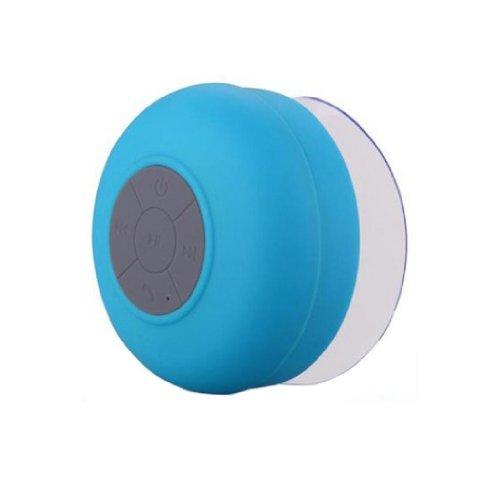 Towallmark 1PC Lovely Blue Waterproof Mini Wireless Bluetooth Suction Shower Car Handsfree Mic Speaker