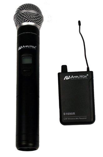 Amplivox S1623 Wl Uhf Handheld Mic Kit Wrls 16ch Includes Receiver W/ Mic