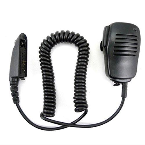 Handheld Speaker 3.5mm headphone jack Mic Microphone for MultiPin Motorola Radio GP1280 HT750 HT1250 HT1250LS HT1550 HT1550XLS MT850 MT850LS MT950 MT8250 etc.