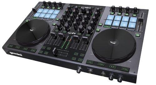 Gemini DJ G4V DJ Controller 4 Channel Midi Controller with Soundcard