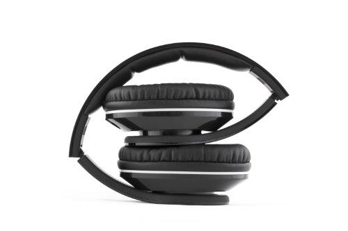 VM Audio Elux Over Ear DJ Stereo MP3 iPhone iPod Bass Headphones Piano Black
