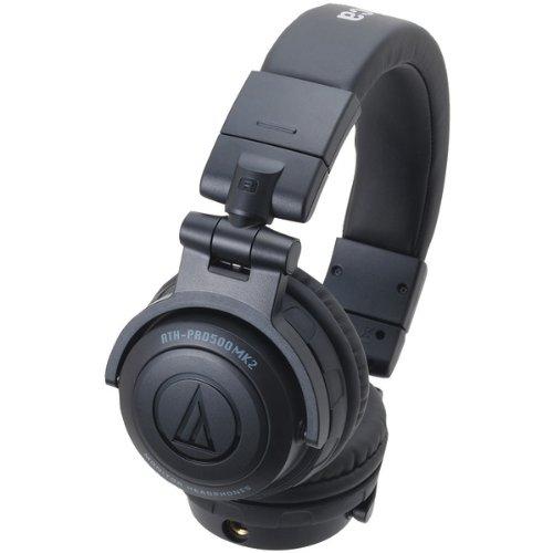 Audio Technica ATH-PRO500MK2 BK BLACK | DJ Monitor Headphones (Japan Import)