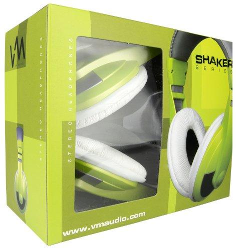 VM Audio SRHP15 Stereo MP3/iPhone iPod Over the Ear DJ Headphones - Lime Green