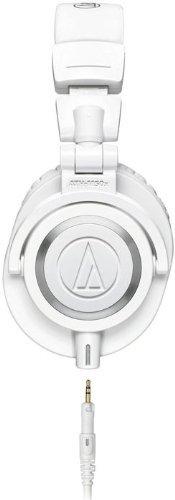 Audio-Technica ATH-M50XWH Professional Monitor Headphones - White (New 2014 Model) + Slappa Full Sized HardBody PRO Headphone Case (SL-HP-07)
