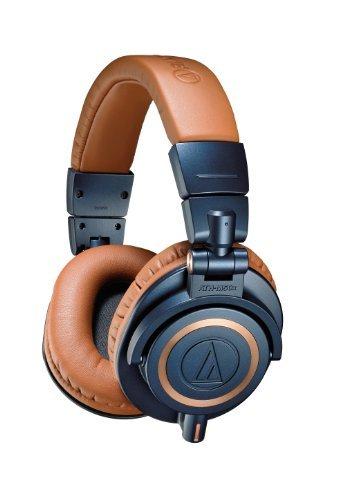 Audio-Technica ATH-M50XBL Professional Monitor Headphones - Blue (New 2014 Model) + Slappa Full Sized HardBody PRO Headphone Case (SL-HP-07)