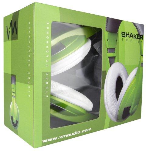 VM Audio SRHP15 Stereo MP3/iPhone iPod Over the Ear DJ Headphones - Neon Green