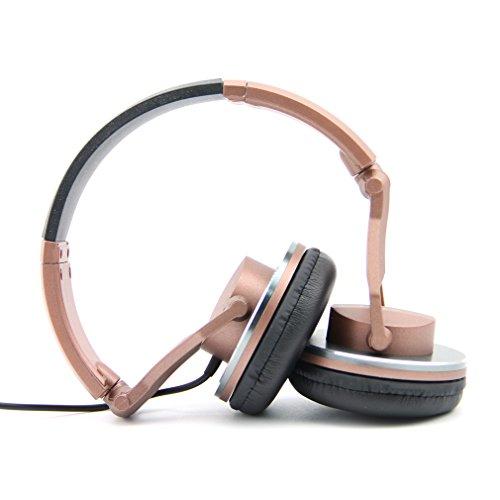 Labsic DJ1000 On-Ear headphones DJ Style headphones High-Definition rofessional Studio Monitor Headphones,3.5mm stereo jack (Retail packaging included 1/4-inch adapter) --Brown