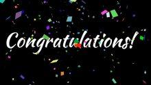Congratulations with Confetti Loop
