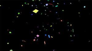 Confetti on Black