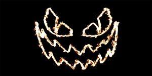 Fiery Pumpkin Face